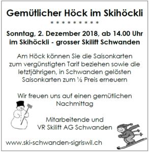 Höck Skihöckli